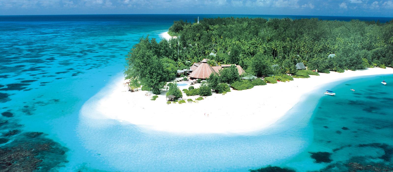 Vogelperspektive von Denis Island Resort in Denis Island, Seychelles