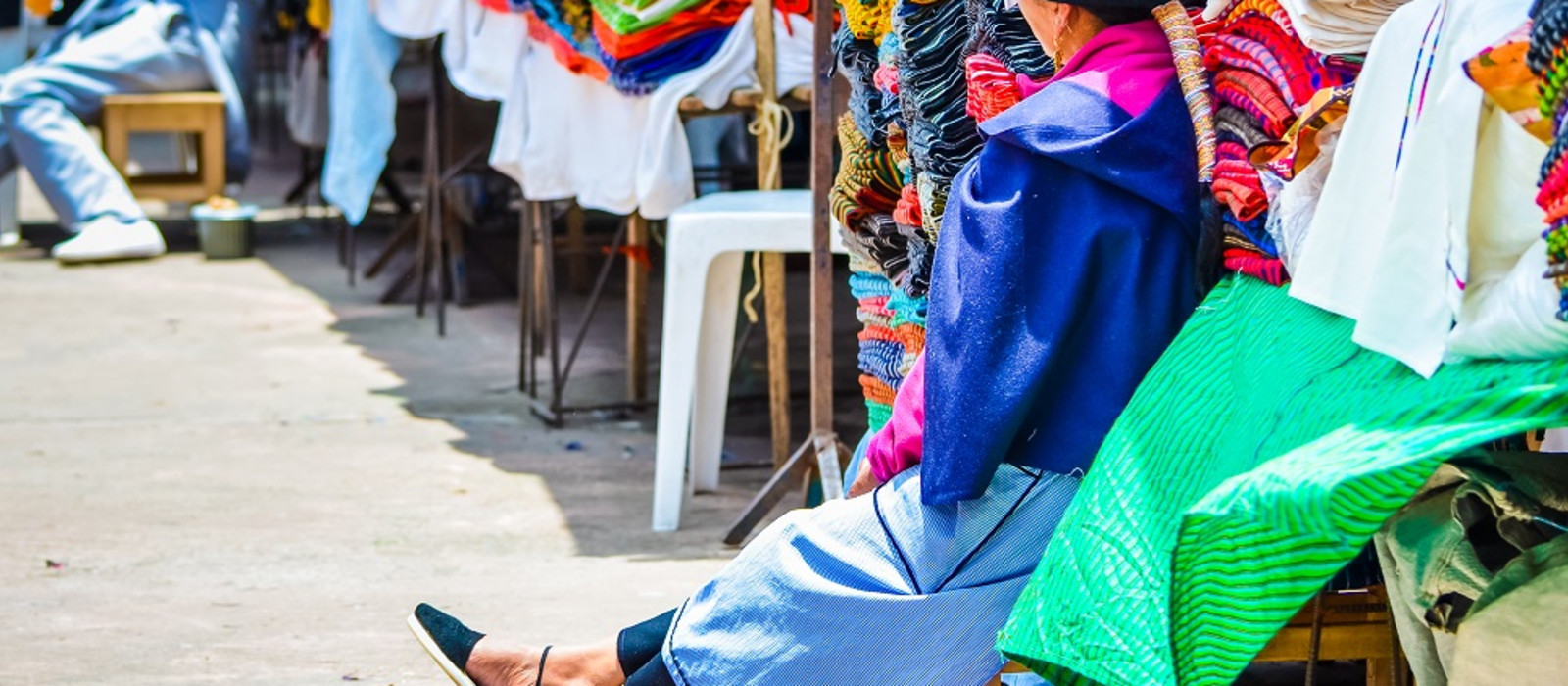 culture of Ecuador - Colorful market in Otavalo