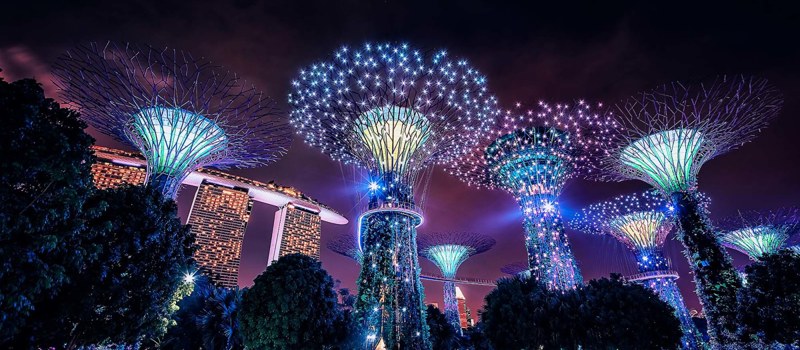 Sound and Light Show at Gardens by the Bay