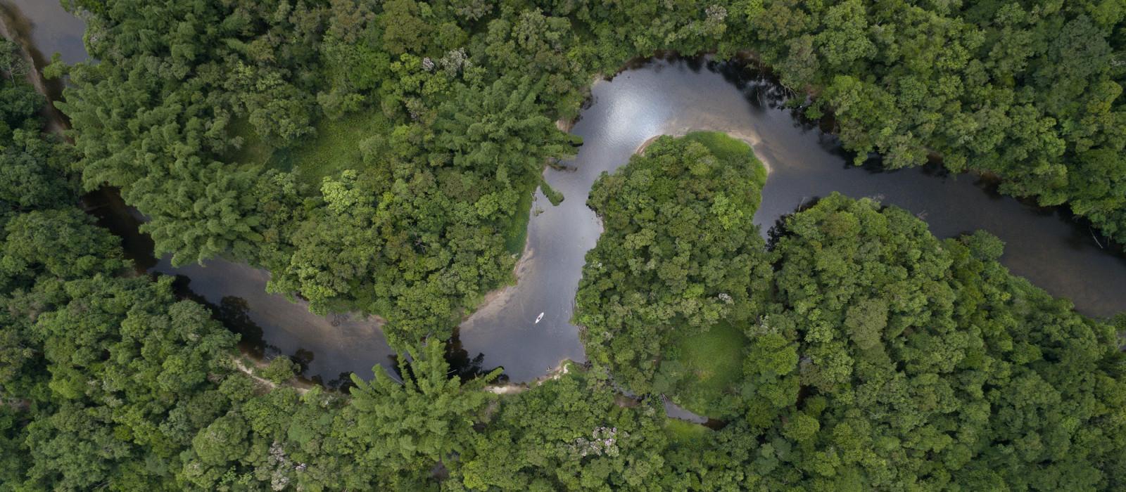Ansicht des Amazonas, Brasilien, Südamerika