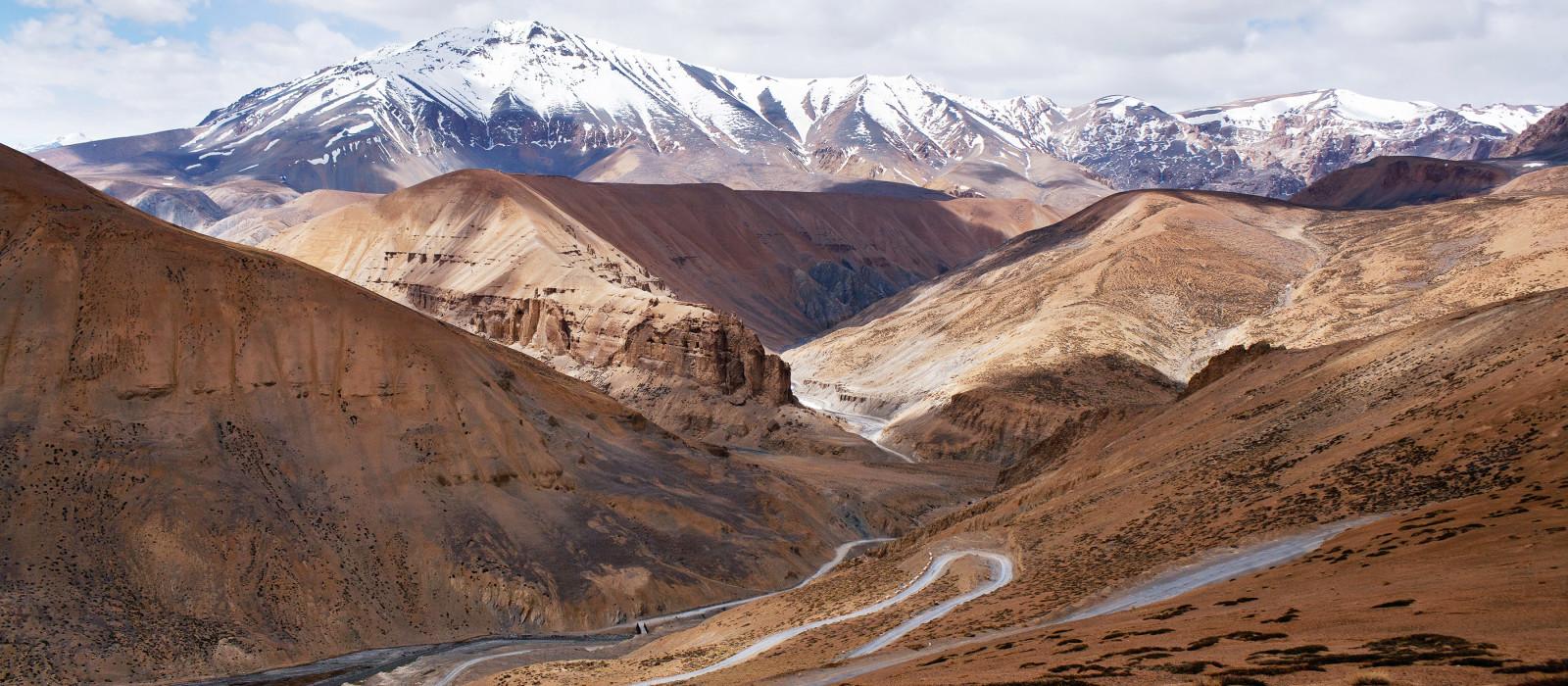 Himalaya mountain landscape, Manali - View of Leh highway in Ladakh, Jammu and Kashmir, India