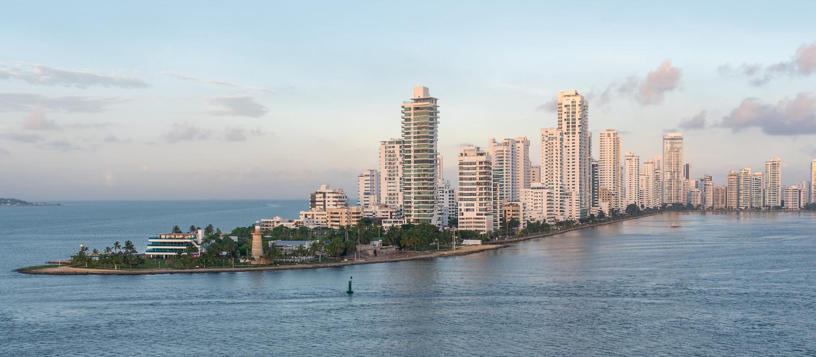 Hafen von Cartagena Kolumbien, Südamerika