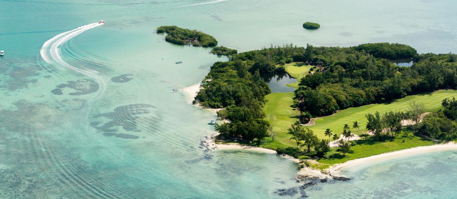 Beautiful lagoon of Mauritius Island