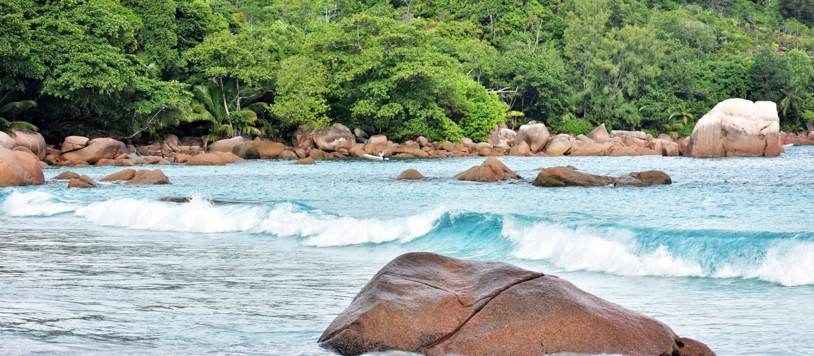anse lazio beach on Praslin island in Seychelles, Africa
