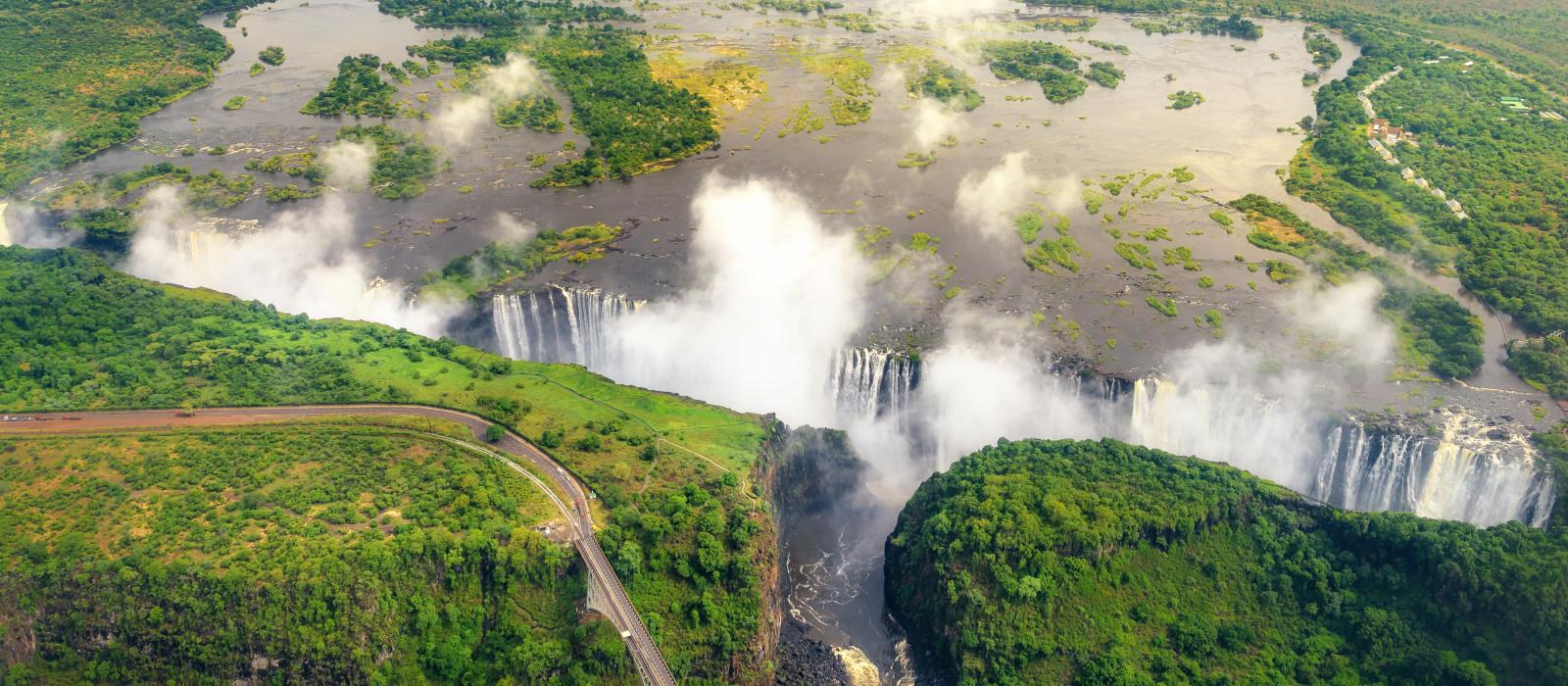 Sambesi-Fluss und Victoriafälle, Afrika