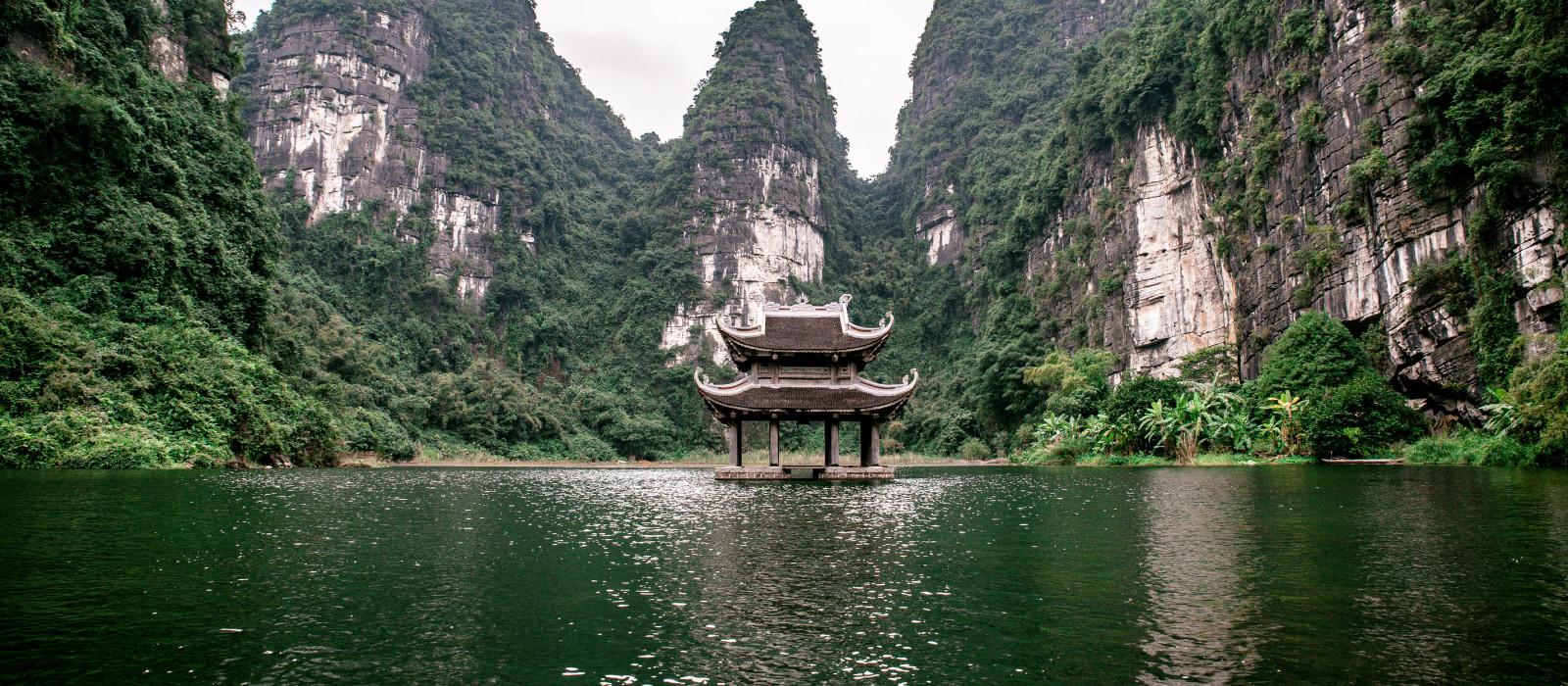 Boat cave tour in Trang, Halong Bay, Ninh Binh province, Vietnam, Asia