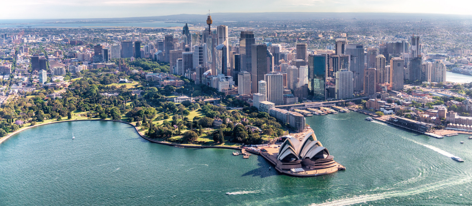 Sydney, Australia. Awesome aerial view from helicopter on a beautiful day