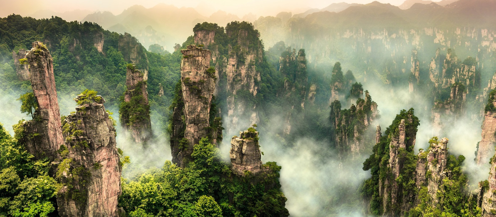 Enchanting Travels China Vacation Zhangjiajie cliff mountain at Wulingyuan Hunan China