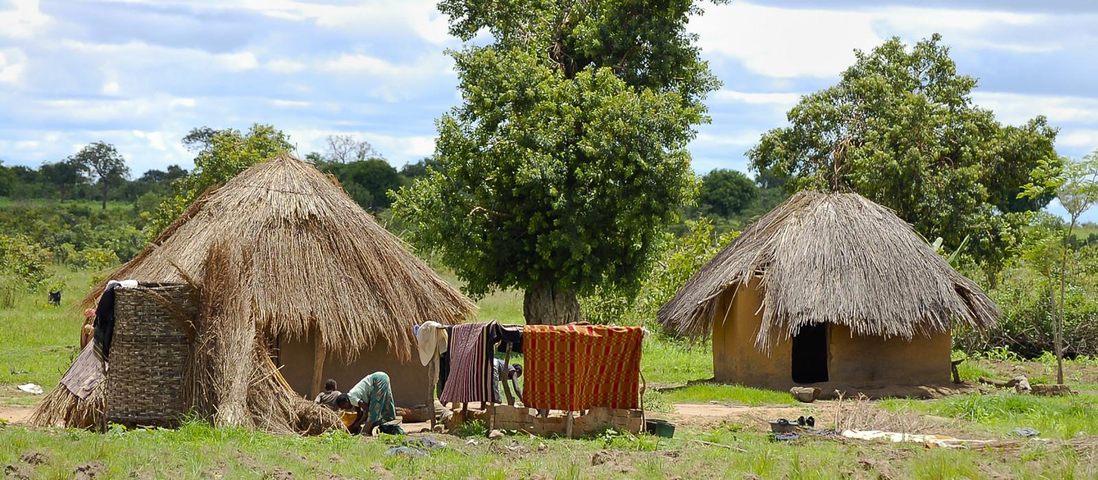 Culture of Zambia - village huts