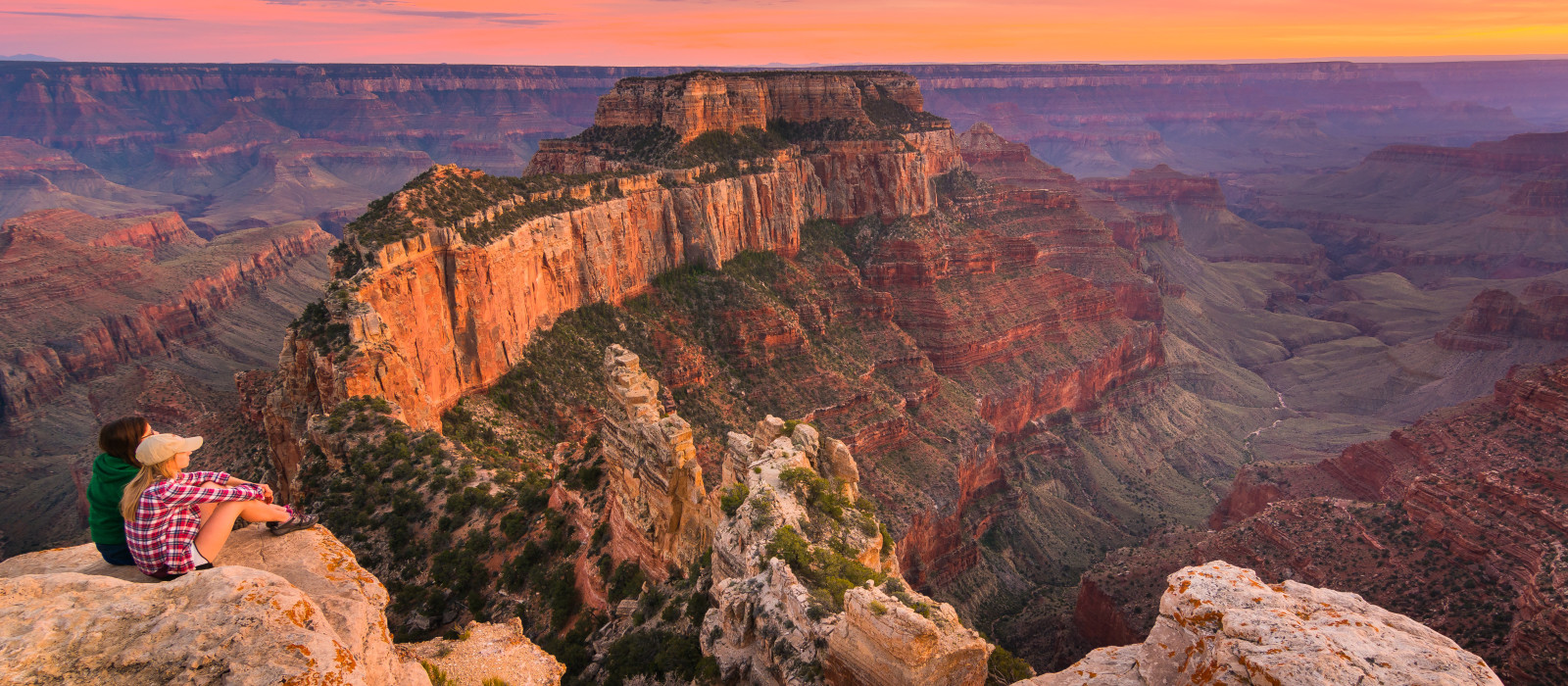 sunset at Grand Canyon National Park North Rim, USA