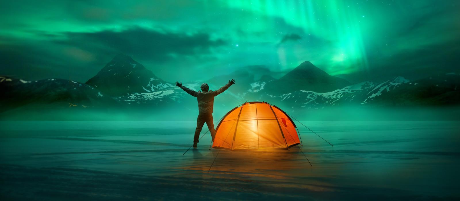 Highlight auf Island - Polarlichter