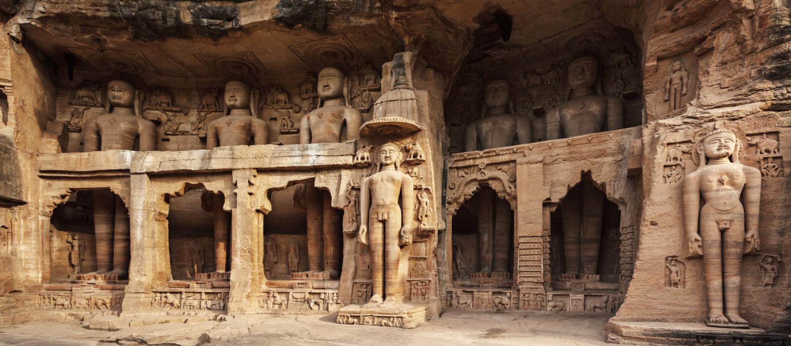 Tirthankara-Statue in einem Jain-Tempe, Indien