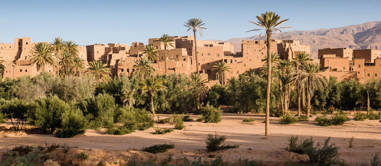 Kasbah nahe Tinerhir, Marokko