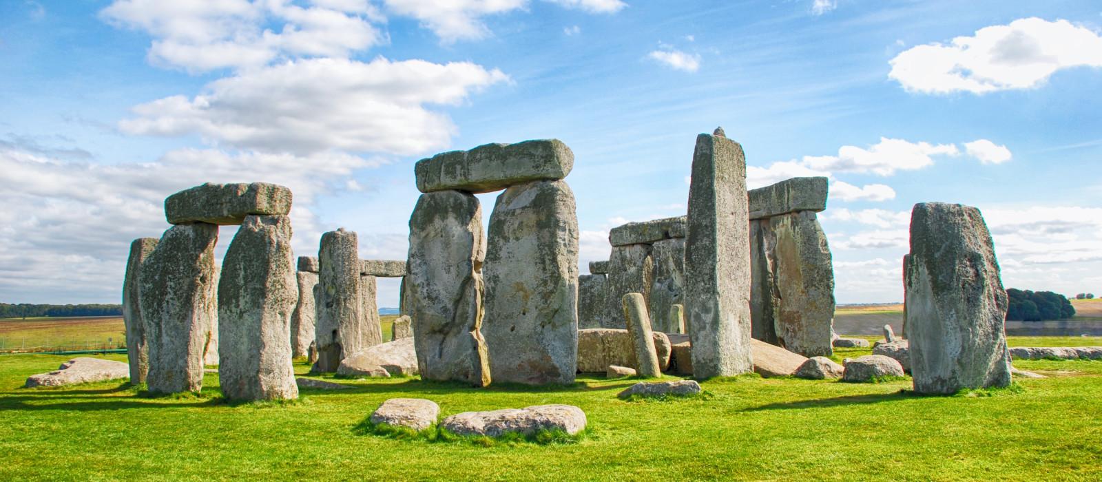 Enchanting Travels Europe Tours Stonehenge with Blue Sky