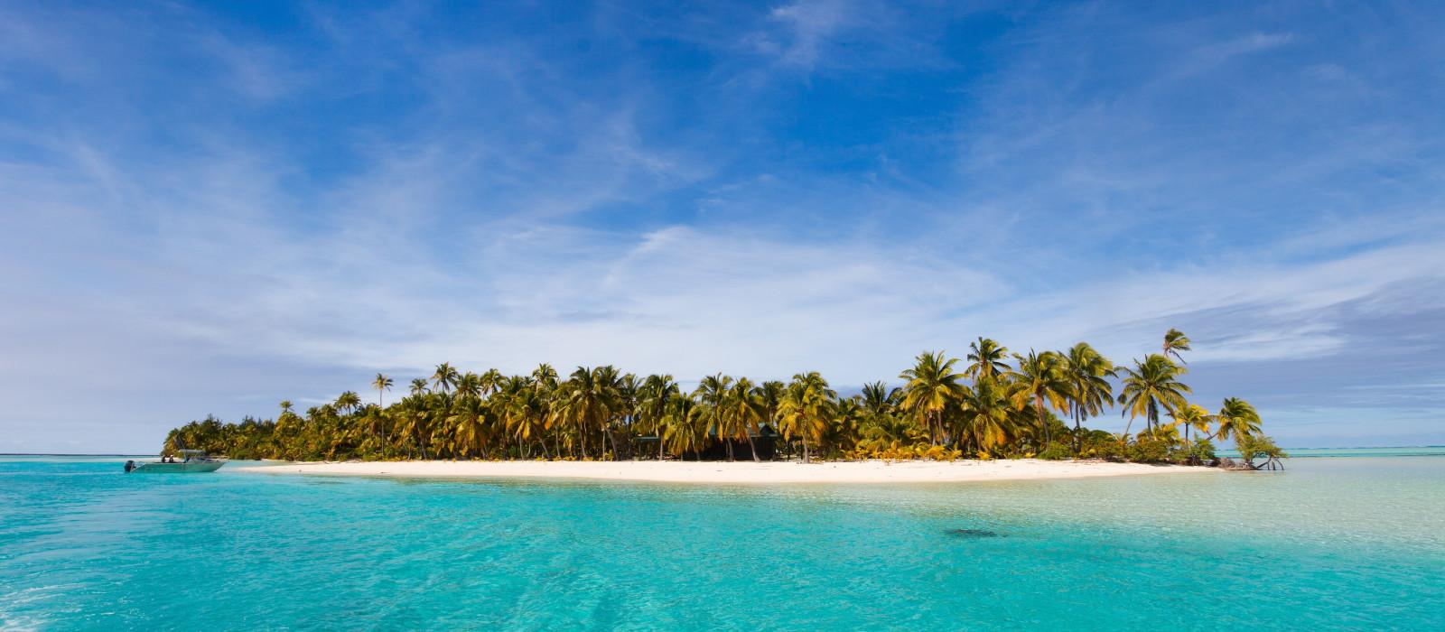 Aitutaki One Foot island, Südpazifik, Cook Islands Urlaub