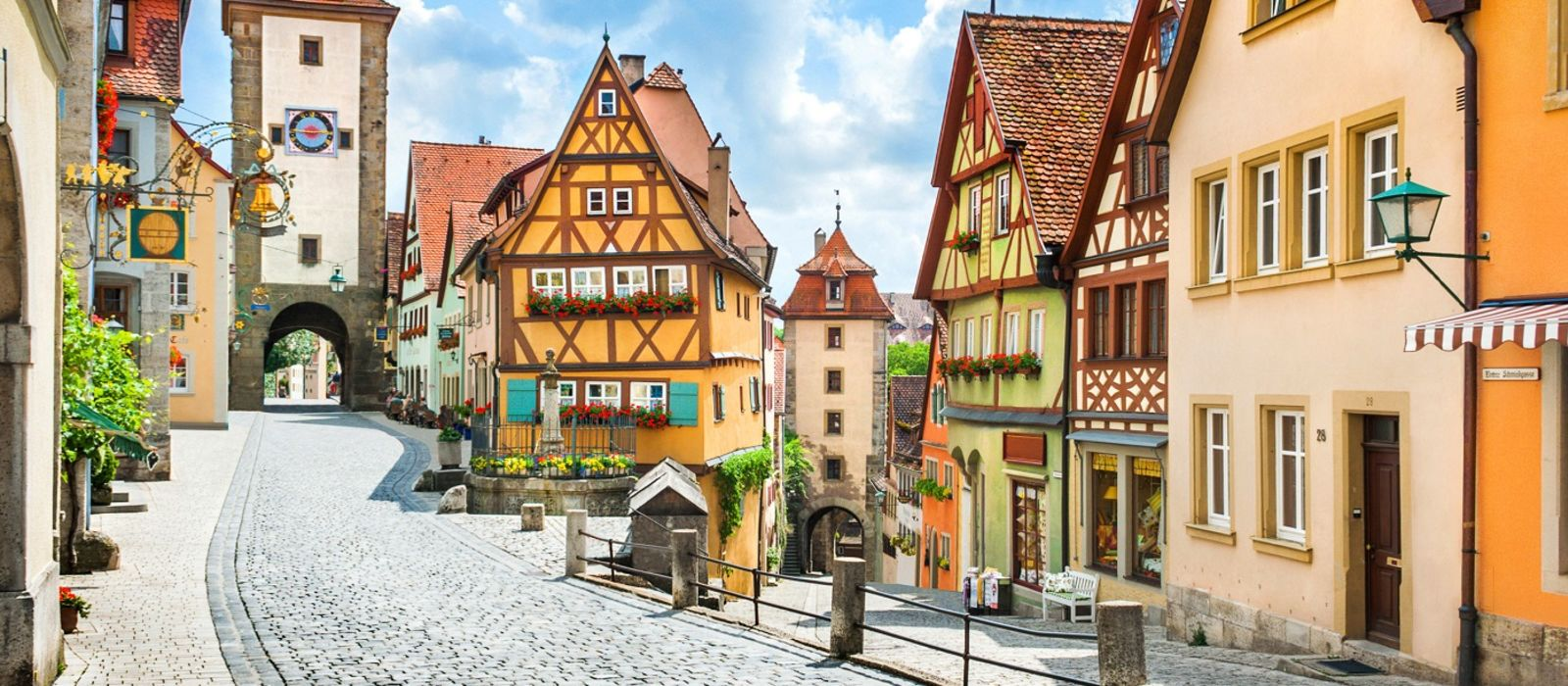 Enchanting Travels Germany Tours Beautiful postcard view of the famous historic town of Rothenburg ob der Tauber