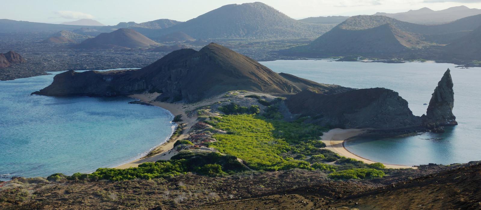 Unglaubliche Aussicht auf der Insel Bartolome, Galapagos-Inseln, Ecuador, Südamerika