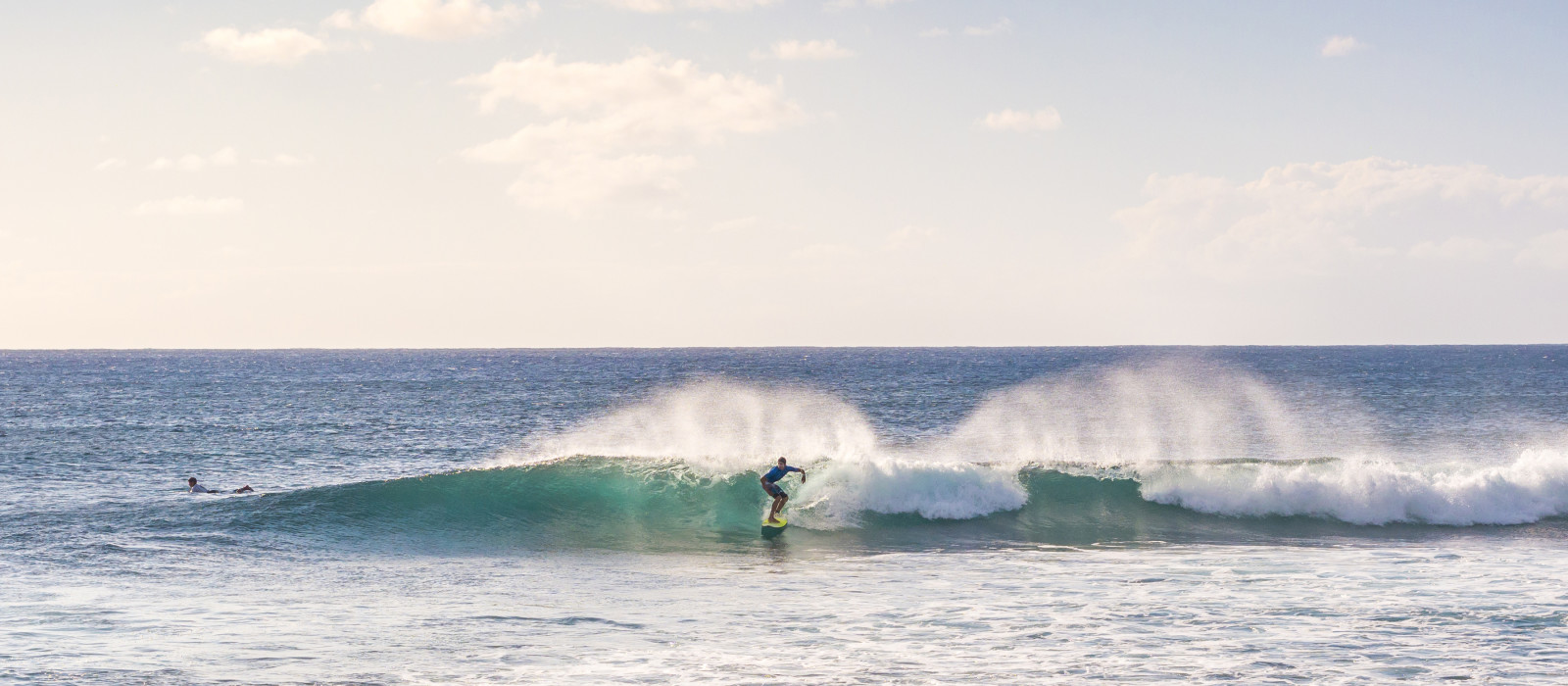 Surfing the Easter Island ocean, Chile, South America