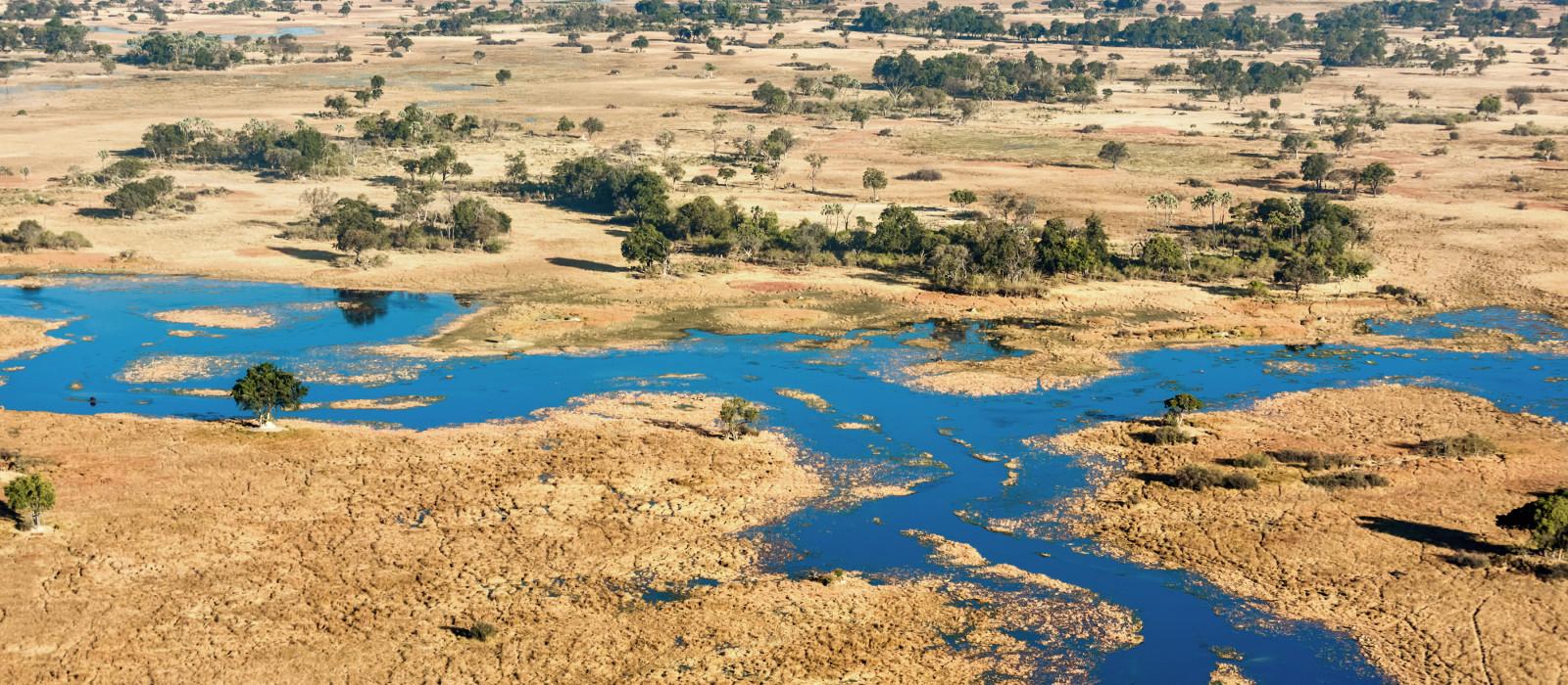 okavango delta in Botswana in africa