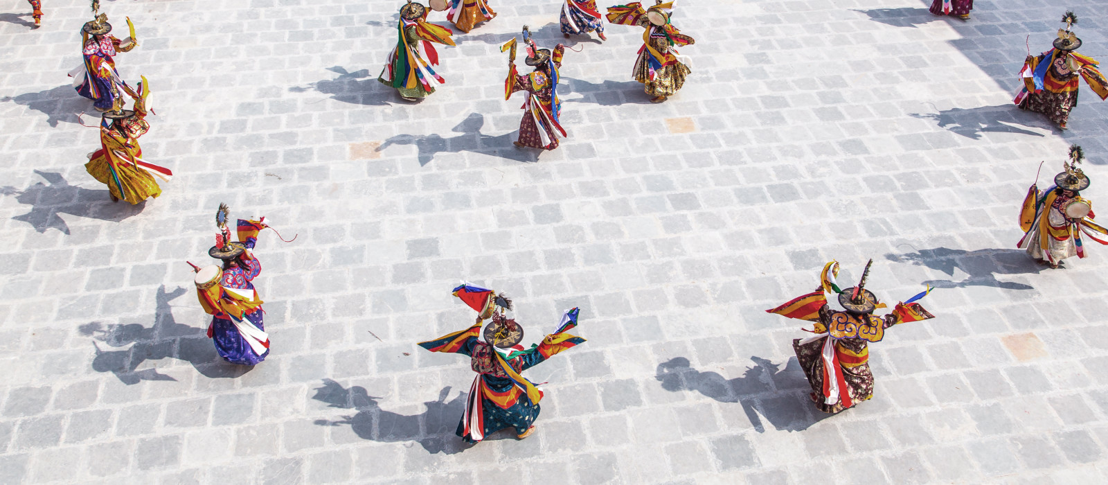 Traditional dance and colors in Mongar, Bhutan, Asia