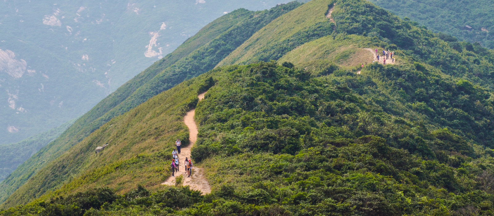 Hong Kong hiking trail scenery - Dragon's Back, Asia