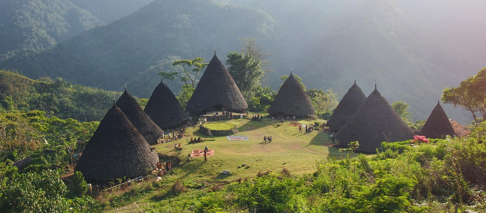 Wae Rebo Village in Flores Indonesia, Asia