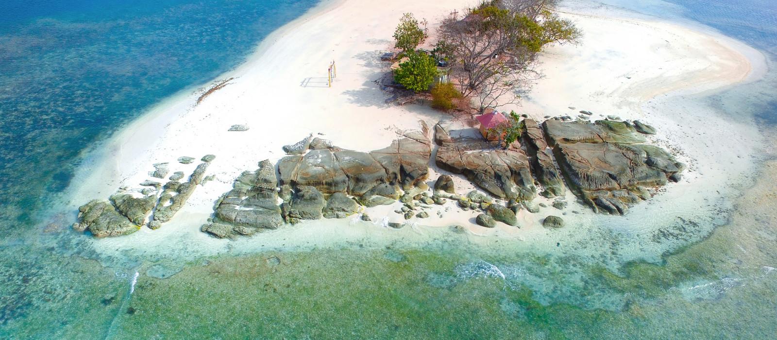 Luftbildansicht von Insel Gili Kedis Lombok, Indonesien