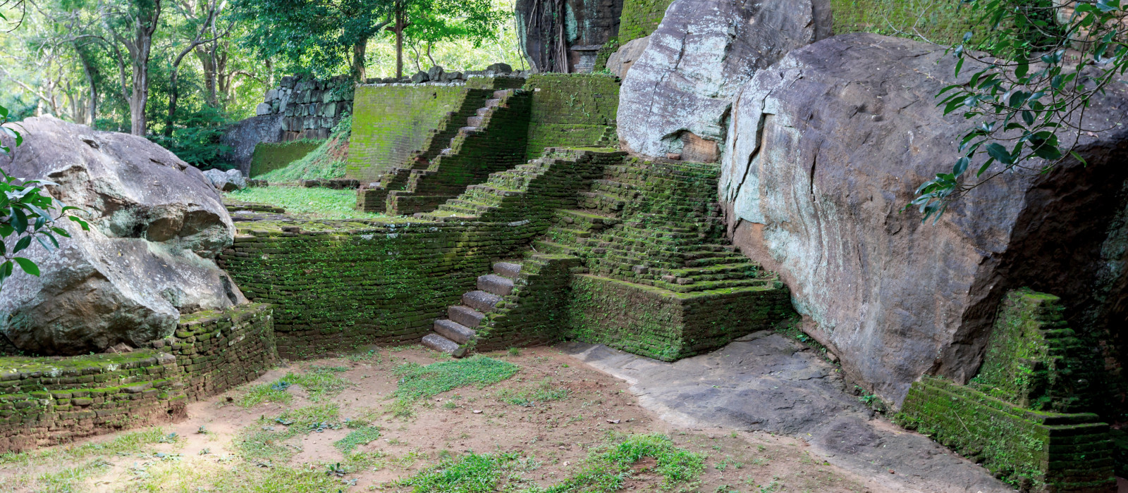 Old Ruins of Sigiriya Castle, Sri Lanka, Asia