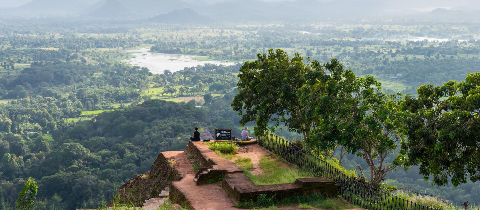 Beautiful vew from Sigiriya Lion Rock, Sri Lanka, Asia