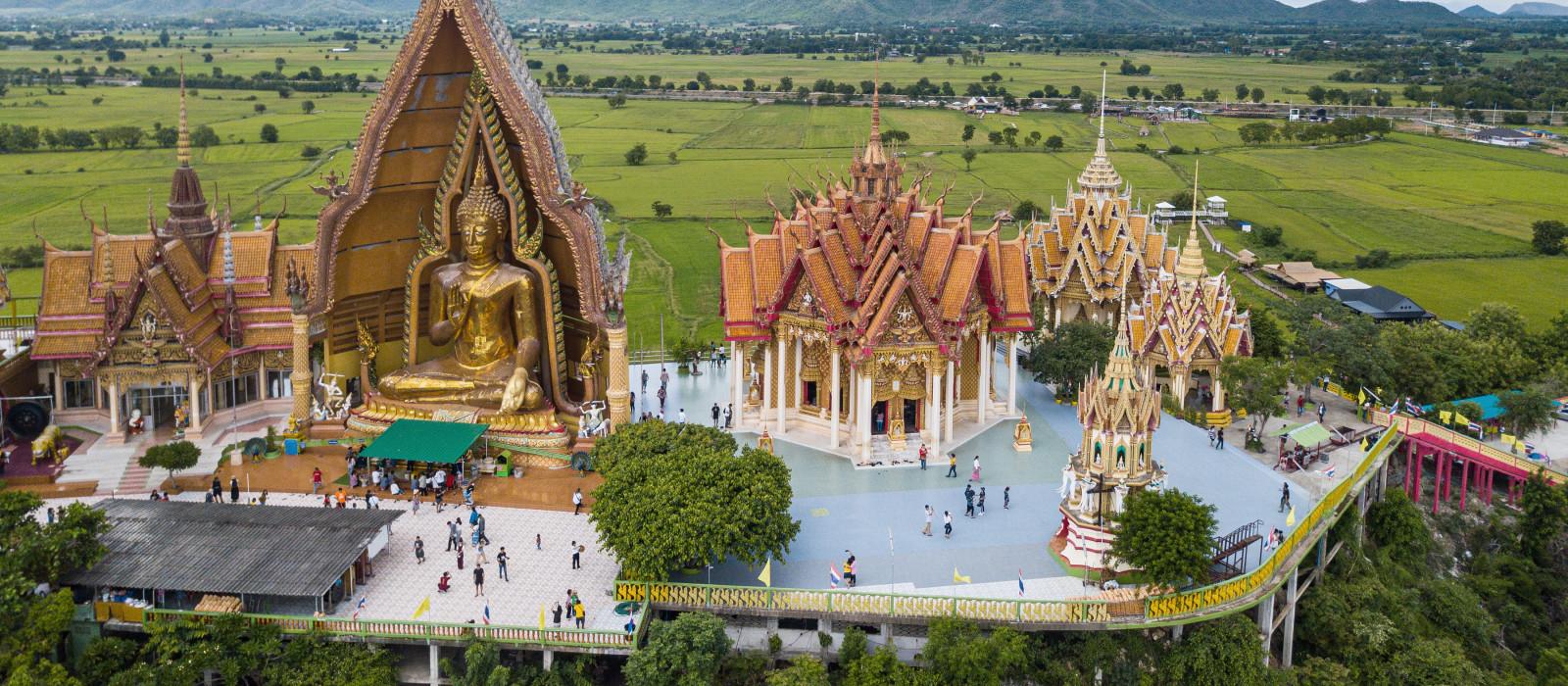 Vogelperspektive von Tuum Sua Temple, thailand