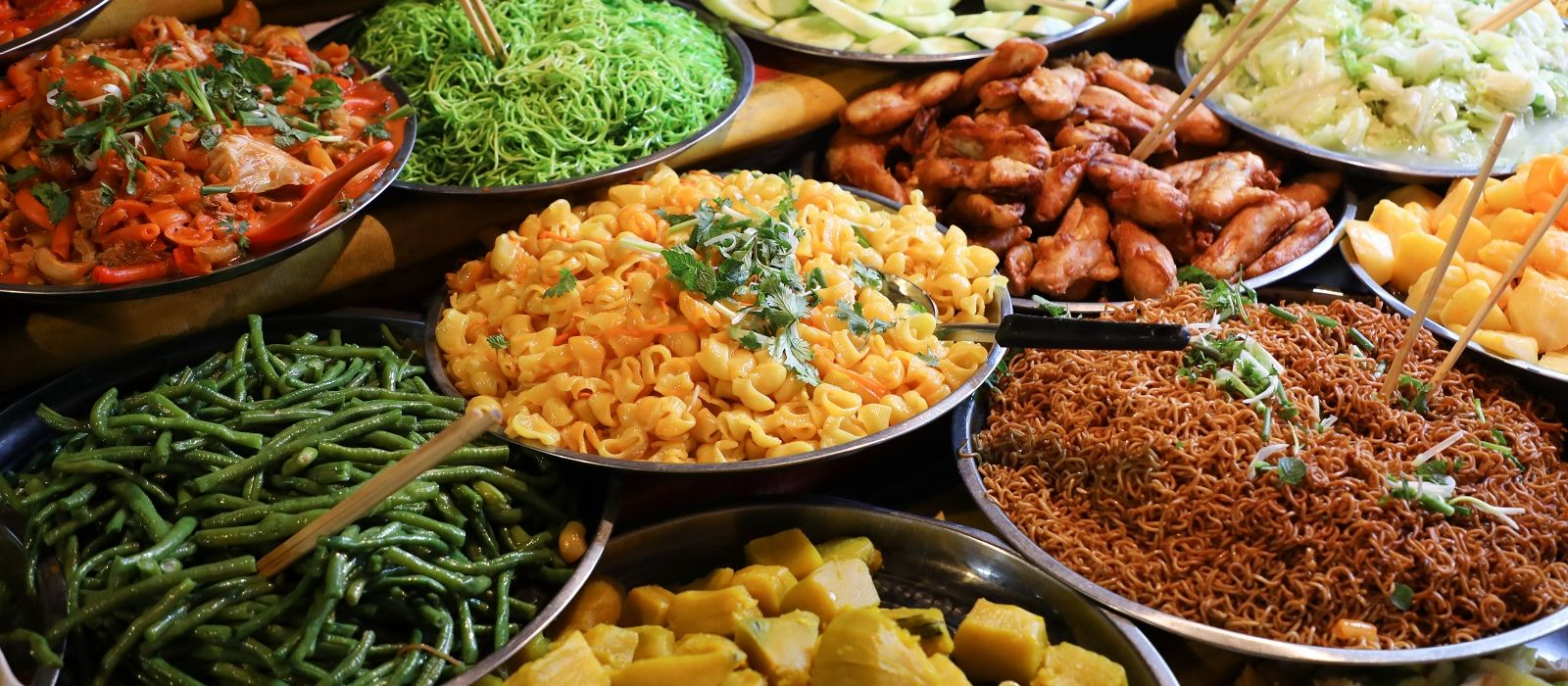 Laos_ traditional street food in the market in luang prabang laos Asia Enchanting Travels - Cuisine in Laos