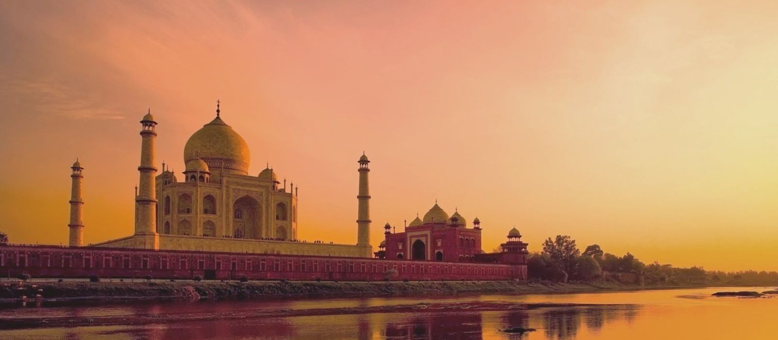 Taj Mahal Agra during sunset, India