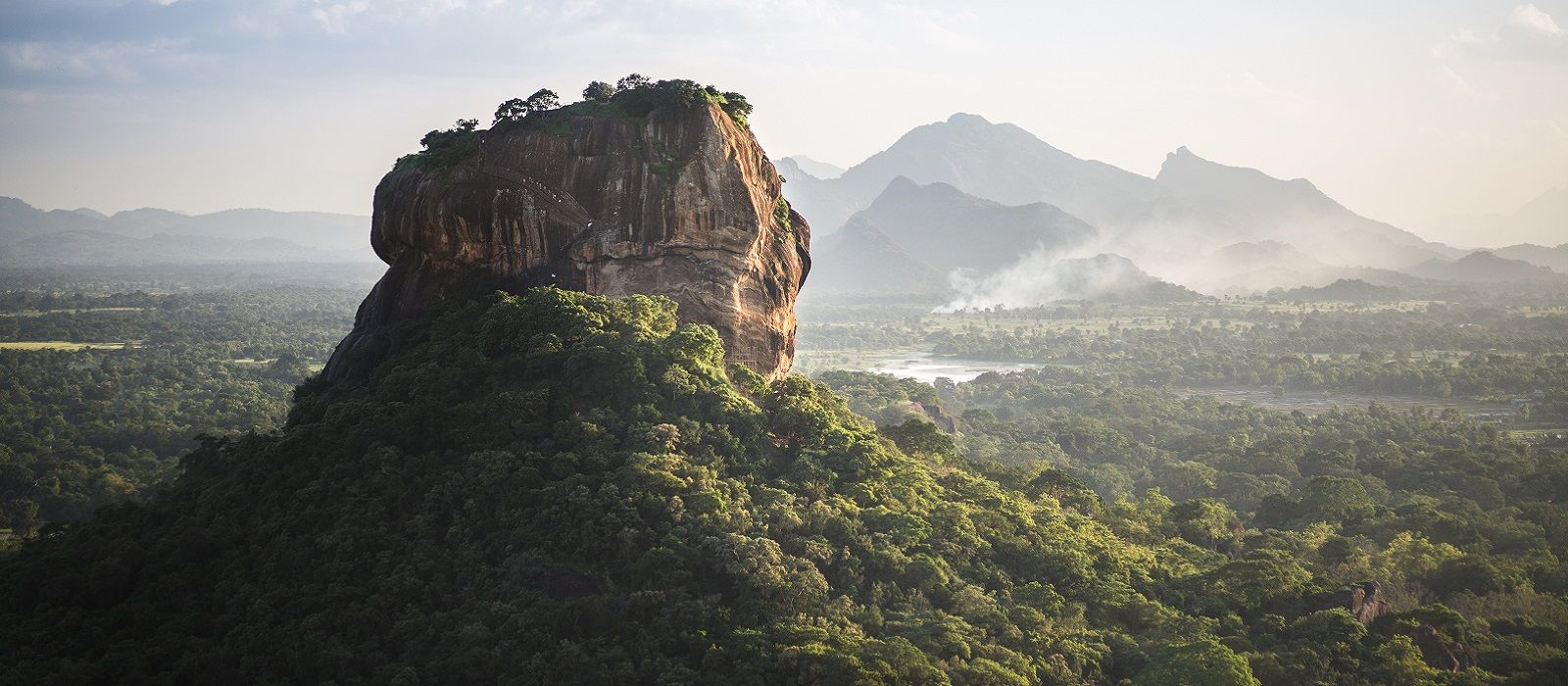 Sigiriya Lion Rock fortress and landscape in Sri Lanka. - Ideal for winter travel