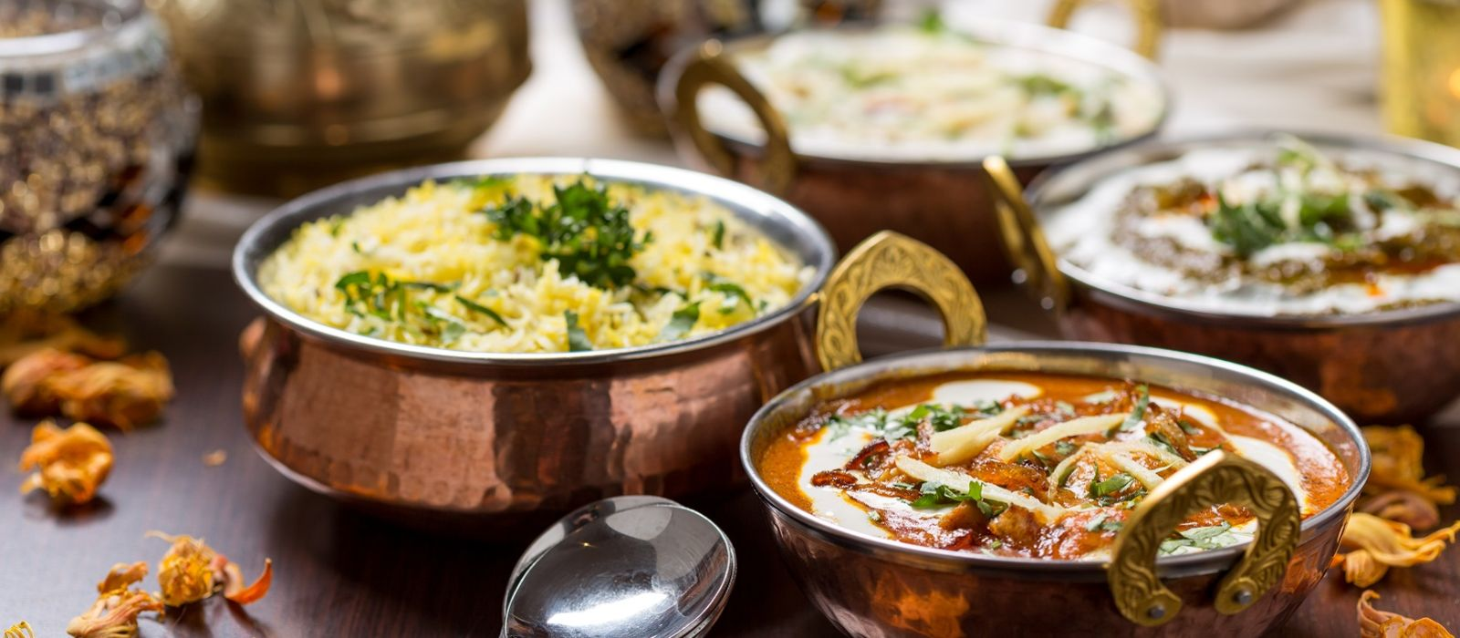 Cuisine of North India Enchanting Travels Indian Food in brass bowl - Indian Restaurant Guide