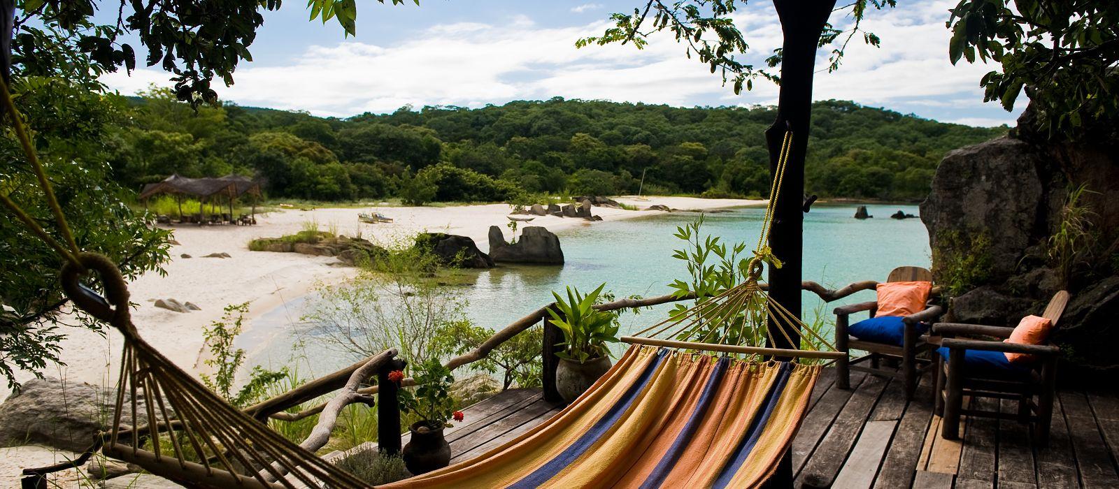Lounge deck by Lake Malawi