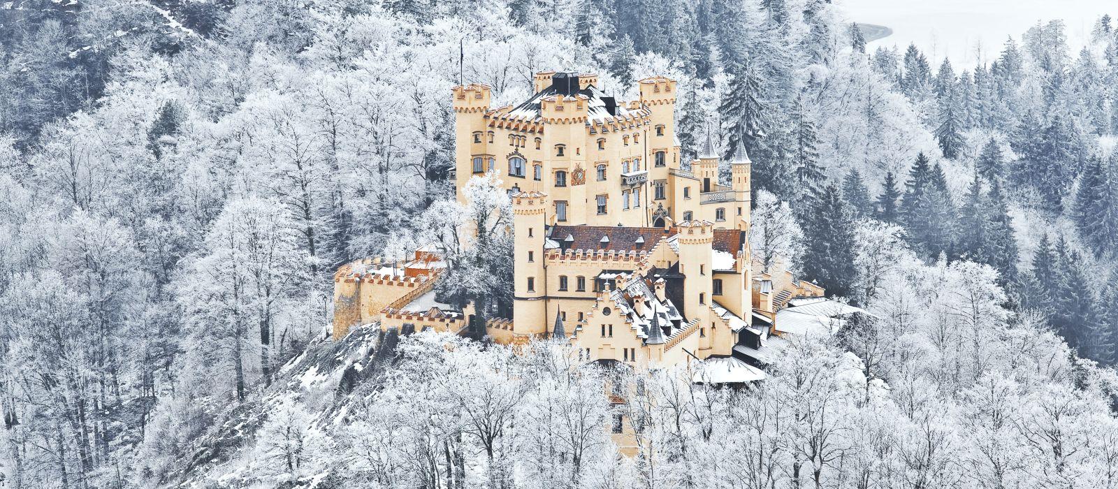 The castle of Hohenschwangau in Germany, Bavaria, Europe