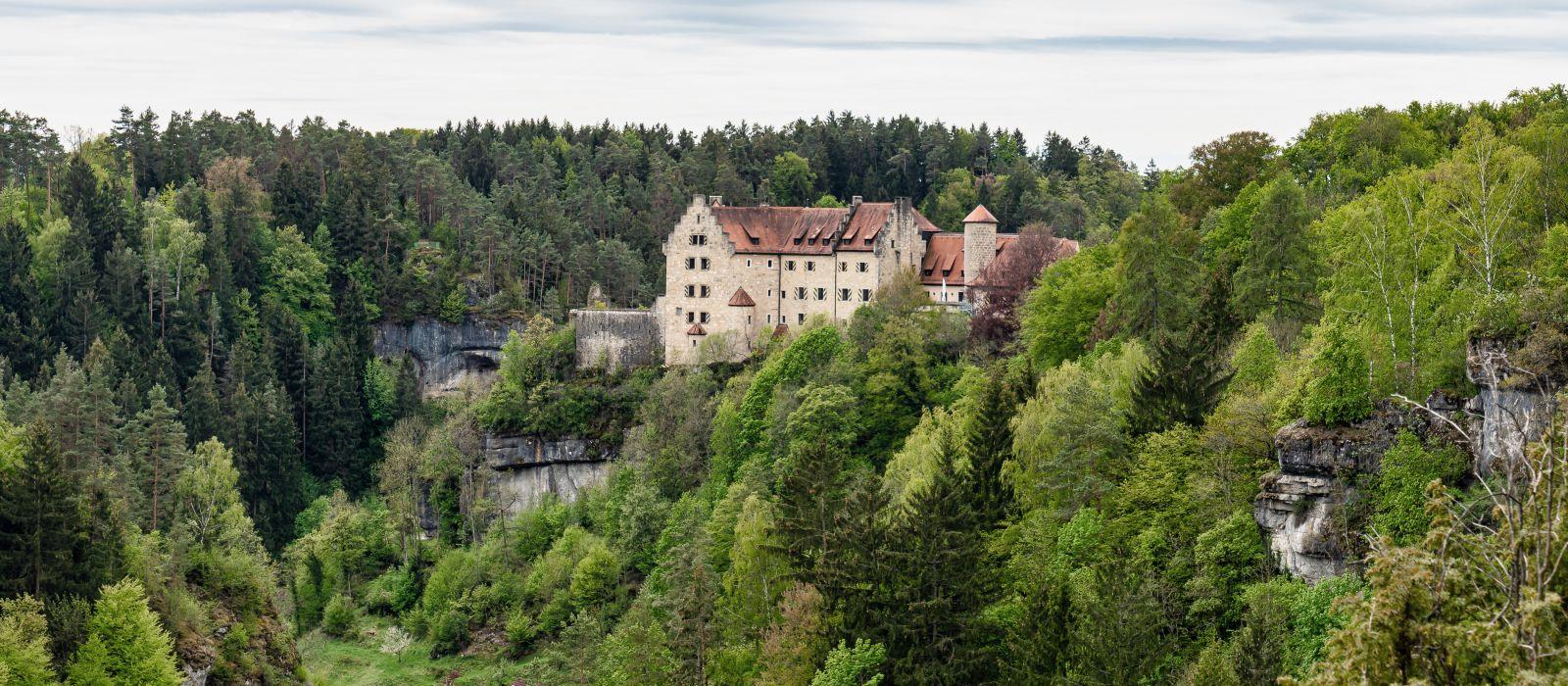 Rabenstein castle in Fraconian Switzerland in Bavaria, Germany, Europe