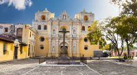 Enchanting Travels Guatemala Tours La Merced church in central park of Antigua
