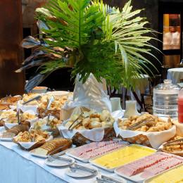 Breakfast buffet at San Martin Foz do Iguacu Hotel in Foz do Iguacu, Brazil