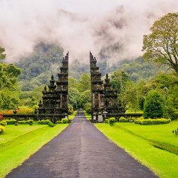 Gates to one of the Hindu temples in Bali in Indonesia - Indonesia travel guide