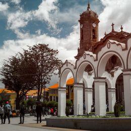 Center of the city of Potosi, Bolivia, South America