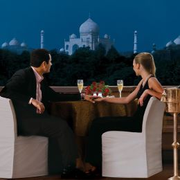 Romantic dinner at The Oberoi Amarvilas in Agra, North India