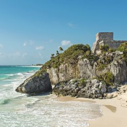 Enchanting Travels Central America Tours Mexico Tulum God of Winds temple by the Caribbean Sea