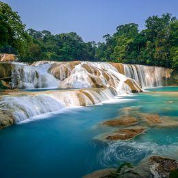 Cascadas de Agua Azul Chiapas, Mexico, Central America