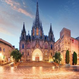 Gothic Barcelona Cathedral at night Spain, Europe Tours