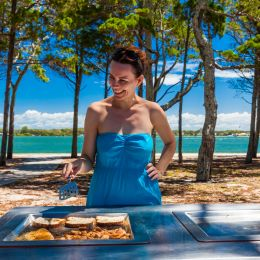 Enchanting Travels Australia Tours barbeque on the beach in Australia