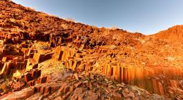 Skurrile Felsformationen in Namibia