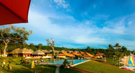Pool area at Chen Sea Resort and Spa Hotel in Phu Quoc Island, Vietnam