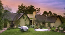 Exterior view of a guest lodge at Hunters Country House Hotel, Garden Route in South Africa