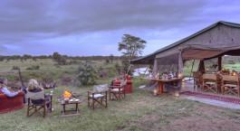 Camp fire at Ol Pejeta Bush Camp in Laikipia - Ol Pejeta / Solio, Kenya